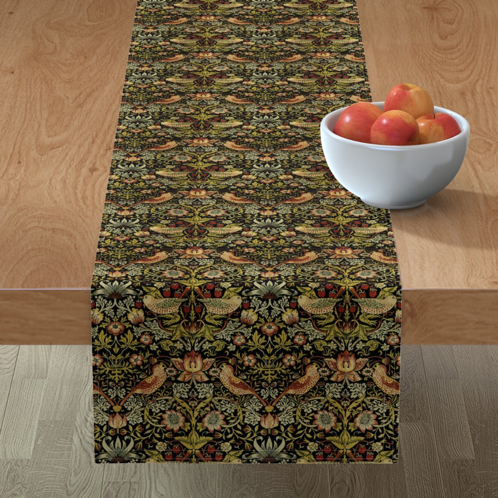 Minorca Table Runner featuring William Morris ~ Strawberry Thief ~ Intense ~ Small by peacoquettedesigns