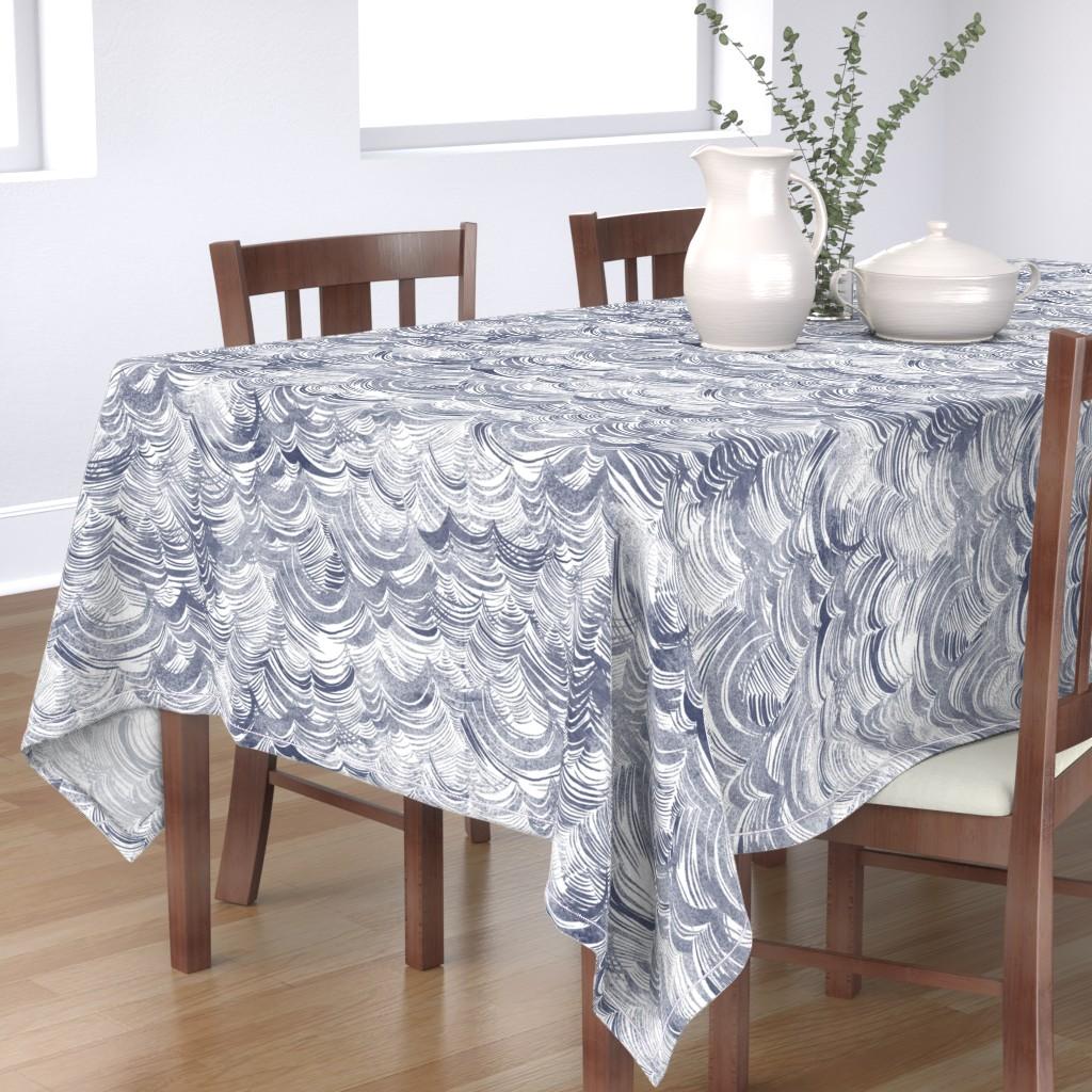 Bantam Rectangular Tablecloth featuring Wild Ocean by nouveau_bohemian