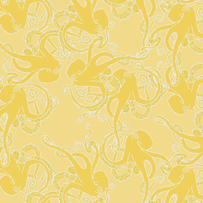 Octopus Pattern in Yellows & White