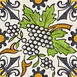 Grapevines and Fleur de Lis