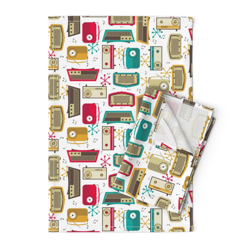 Orpington Tea Towels featuring Plastic Fantastic in a Retro Kitchen! by inscribed_here