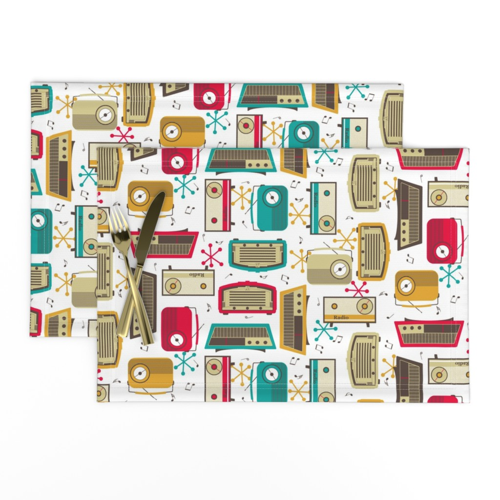 Lamona Cloth Placemats featuring Plastic Fantastic in a Retro Kitchen! by inscribed_here