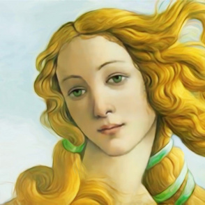 Venus portrait for fat quarter