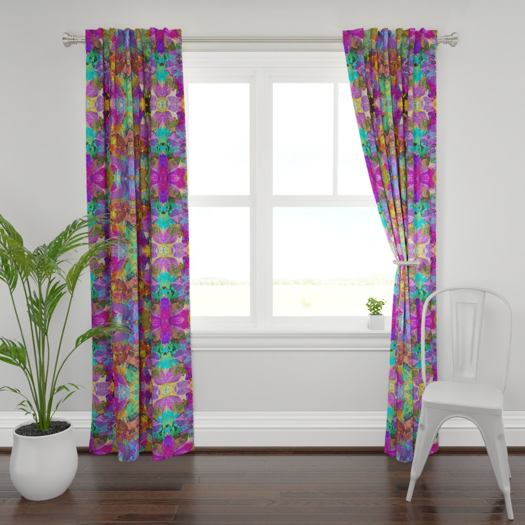 Plymouth Curtain Panel featuring FOLIAGES TRANSPARENCY BRIGHT by paysmage