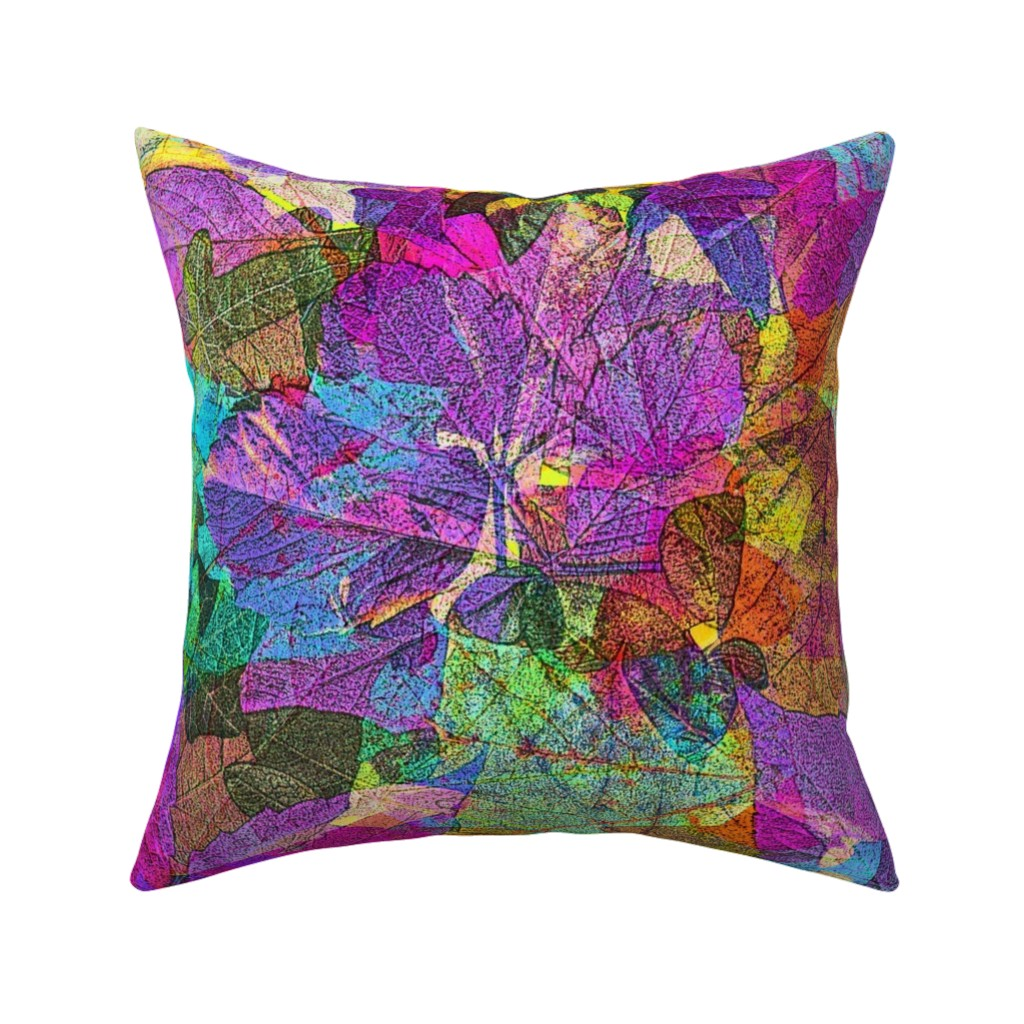 Catalan Throw Pillow featuring FOLIAGES TRANSPARENCY BRIGHT by paysmage