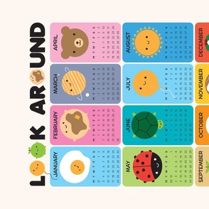 Look Around 2021 Tea Towel Calendar