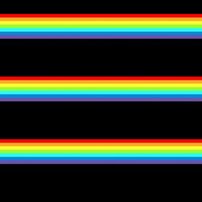 Rainbow Noir Stripe Print