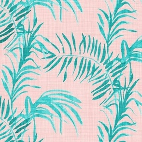 Tropical Palm (LINEN rose quatz)