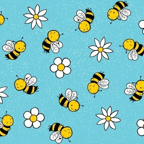 busy bees - blue