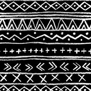 Chalk Tribal Stripe (black)