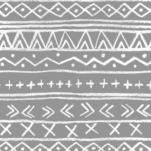 Chalk Tribal Stripe (gray)