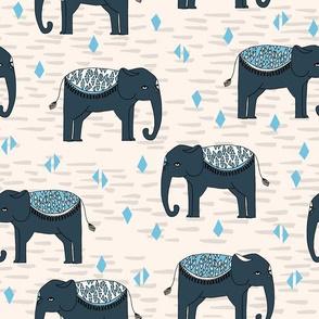 Elephants Parade - Champagne/Soft Blue/Parisian Blue