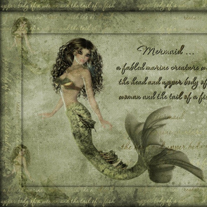 PhotoArt of mermaid with textured background-1