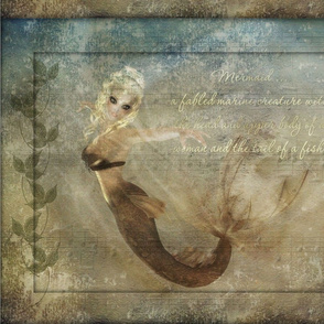 PhotoArt of mermaid with textured background-2