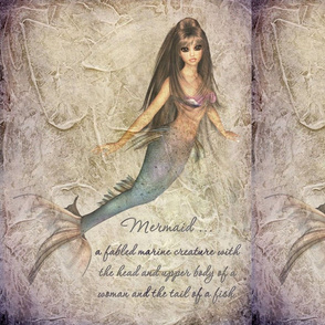 PhotoArt of mermaid with textured background-4