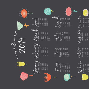 Tea Towel Calendar 2014 Flower Fun
