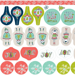 Christmas Ornaments / Tags Cut and Sew Project