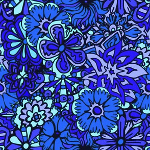 Blue Hippy Flowers