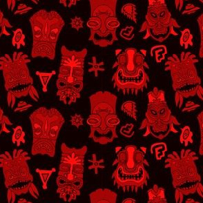 Red and Black Tiki TIme