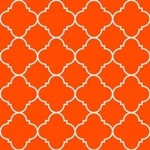 harvest orange quatrefoil