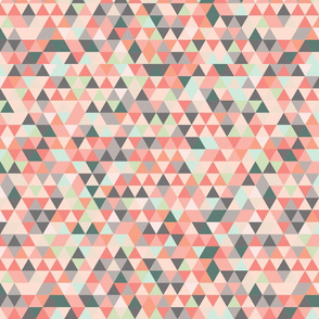 Pink and Grey Triangle Pattern