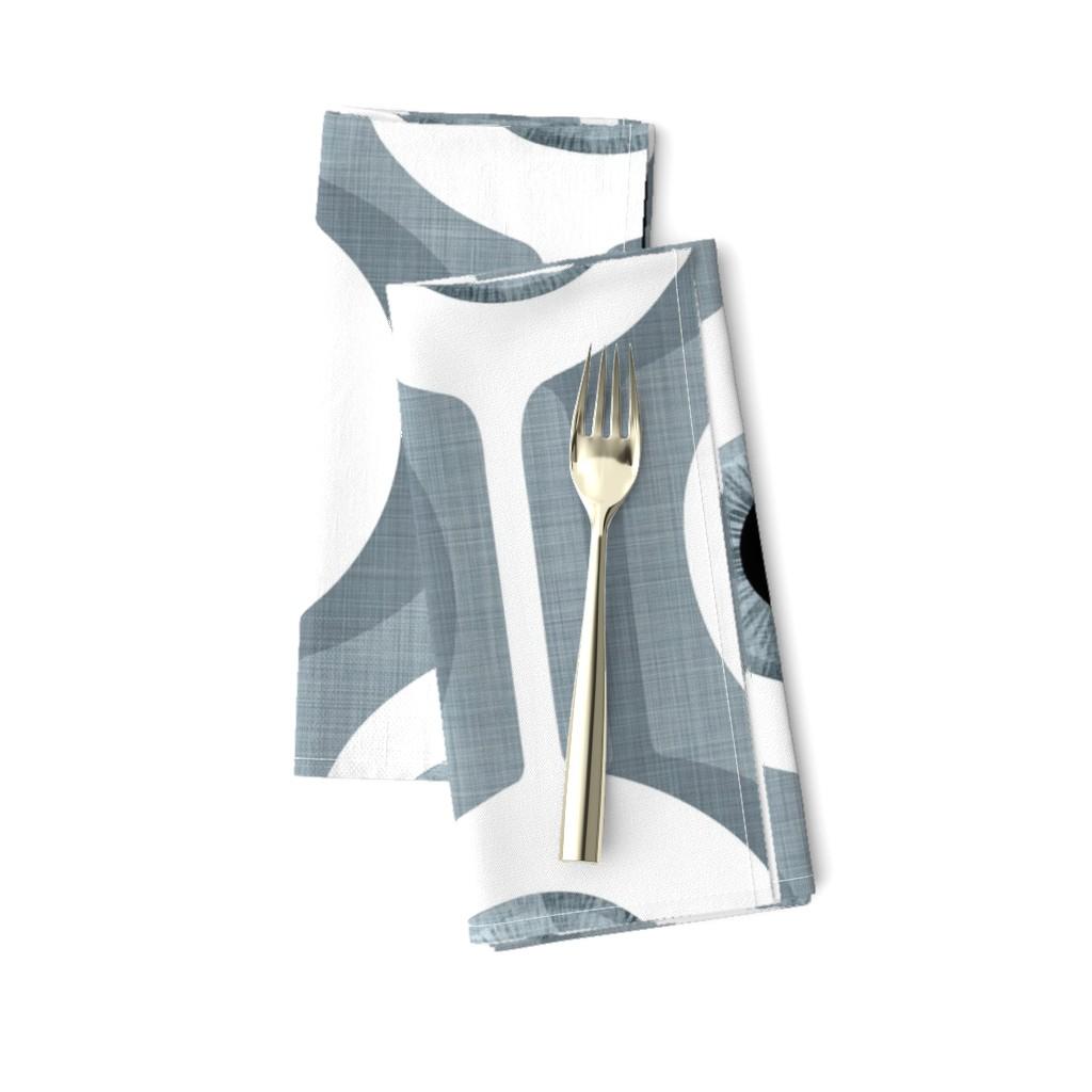 Amarela Dinner Napkins featuring Eye Pod grey - custom size by spellstone