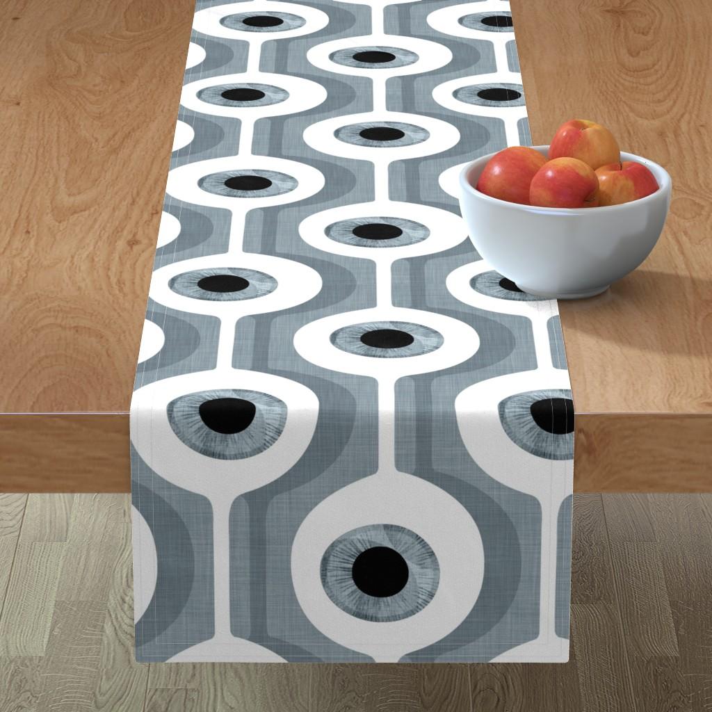 Minorca Table Runner featuring Eye Pod grey - custom size by spellstone