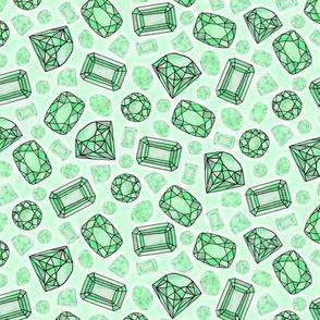 emerald green gems