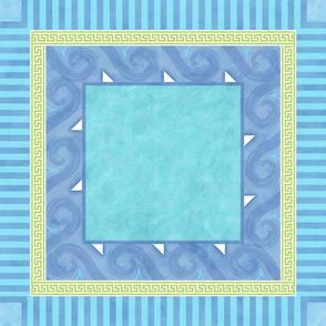 Greek Key square tablecloth