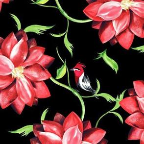 Red_Flower_Little_Birds