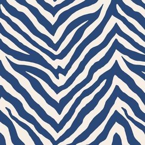 Zebra in Navy