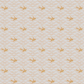 Birds Upon The Sea ~ Silver Leaf with Dauphine and Gilt