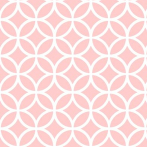 Light Pink Geometric Diamonds