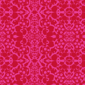 batik in red and hot pink