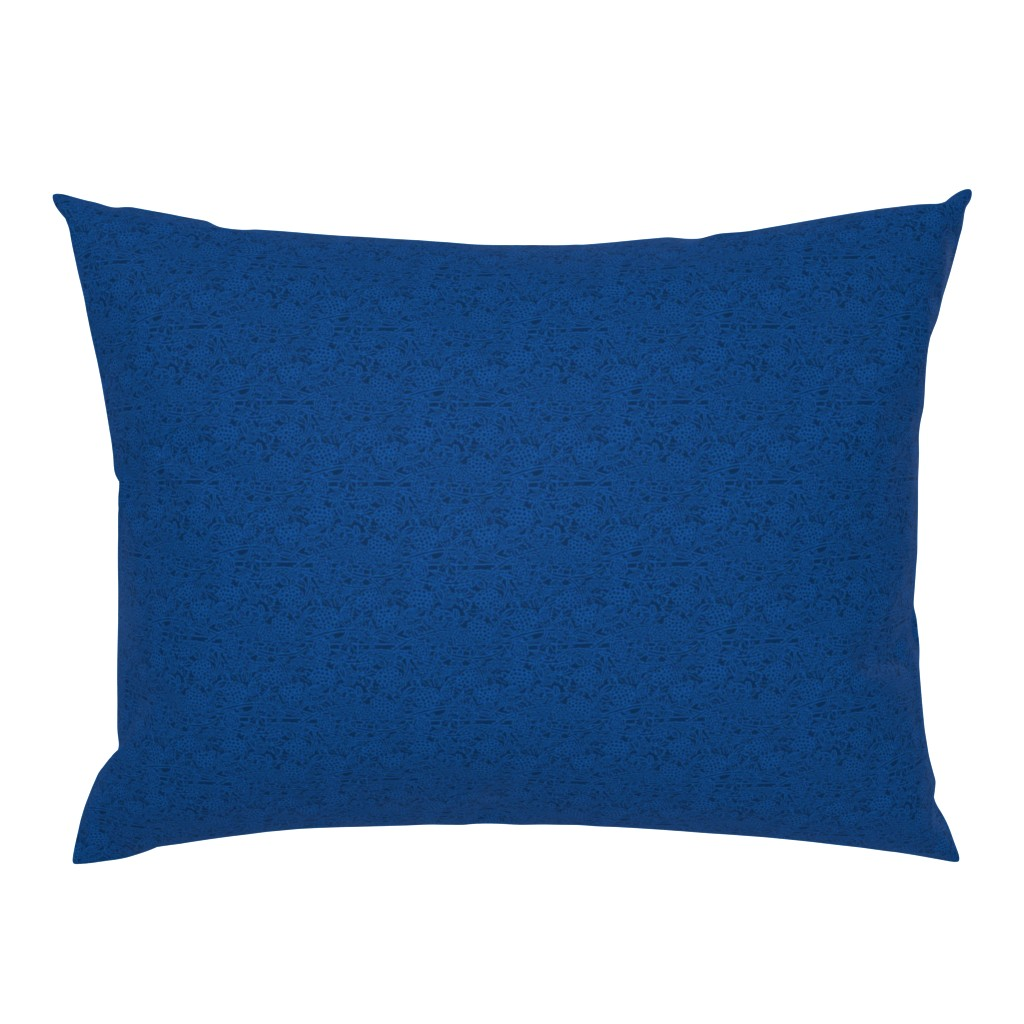 Campine Pillow Sham featuring Prussian Blue Concord Brocade by amyvail
