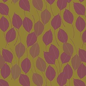purple pear leaves