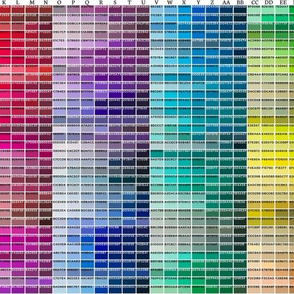 02573230 : Spoonflower Color Map on wallpaper swatch or giftwrap