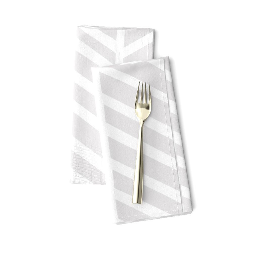 Amarela Dinner Napkins featuring  Herringbone Light Grey Macro by Friztin by friztin