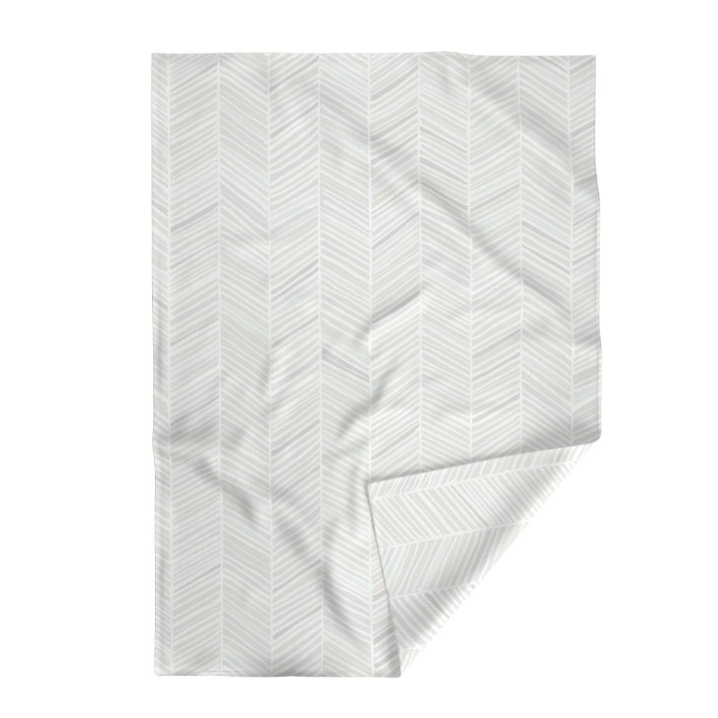 Lakenvelder Throw Blanket featuring Herringbone Hues of Grey by Friztin by friztin