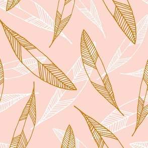 Floating Feathers: Blush and Gold