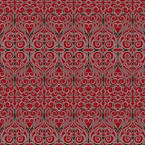 gothic iron work red