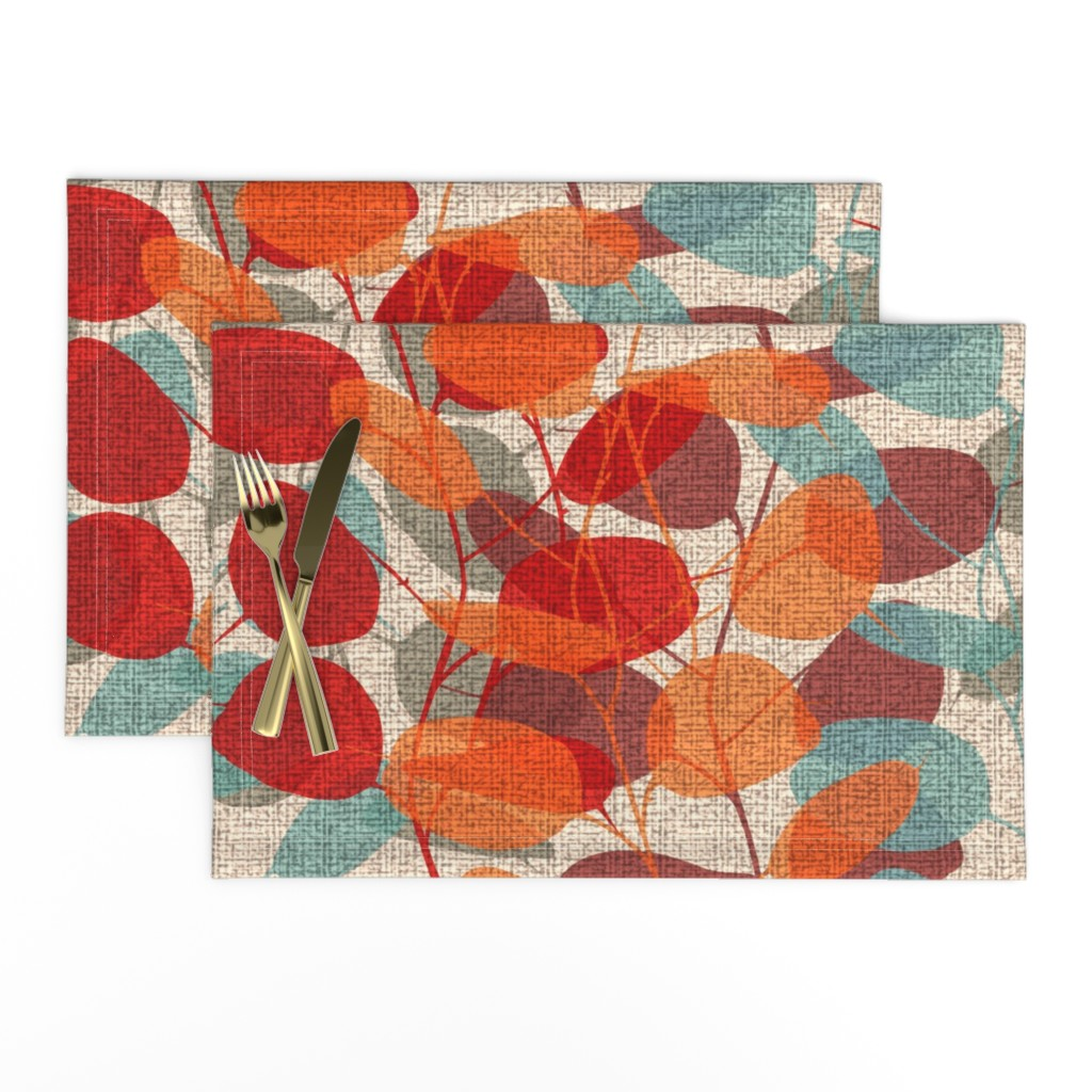 Lamona Cloth Placemats featuring Lunaria on a Fall Day by chicca_besso