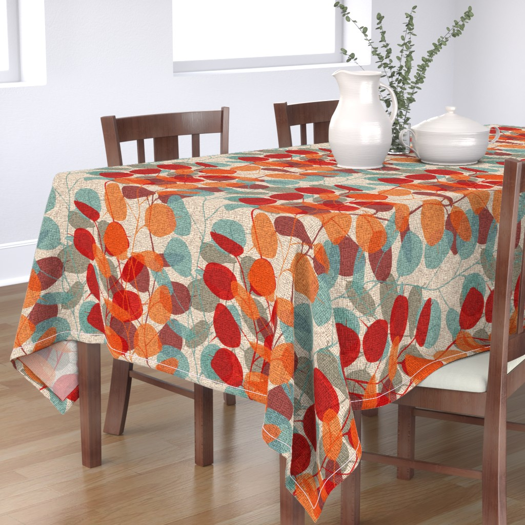 Bantam Rectangular Tablecloth featuring Lunaria on a Fall Day by chicca_besso