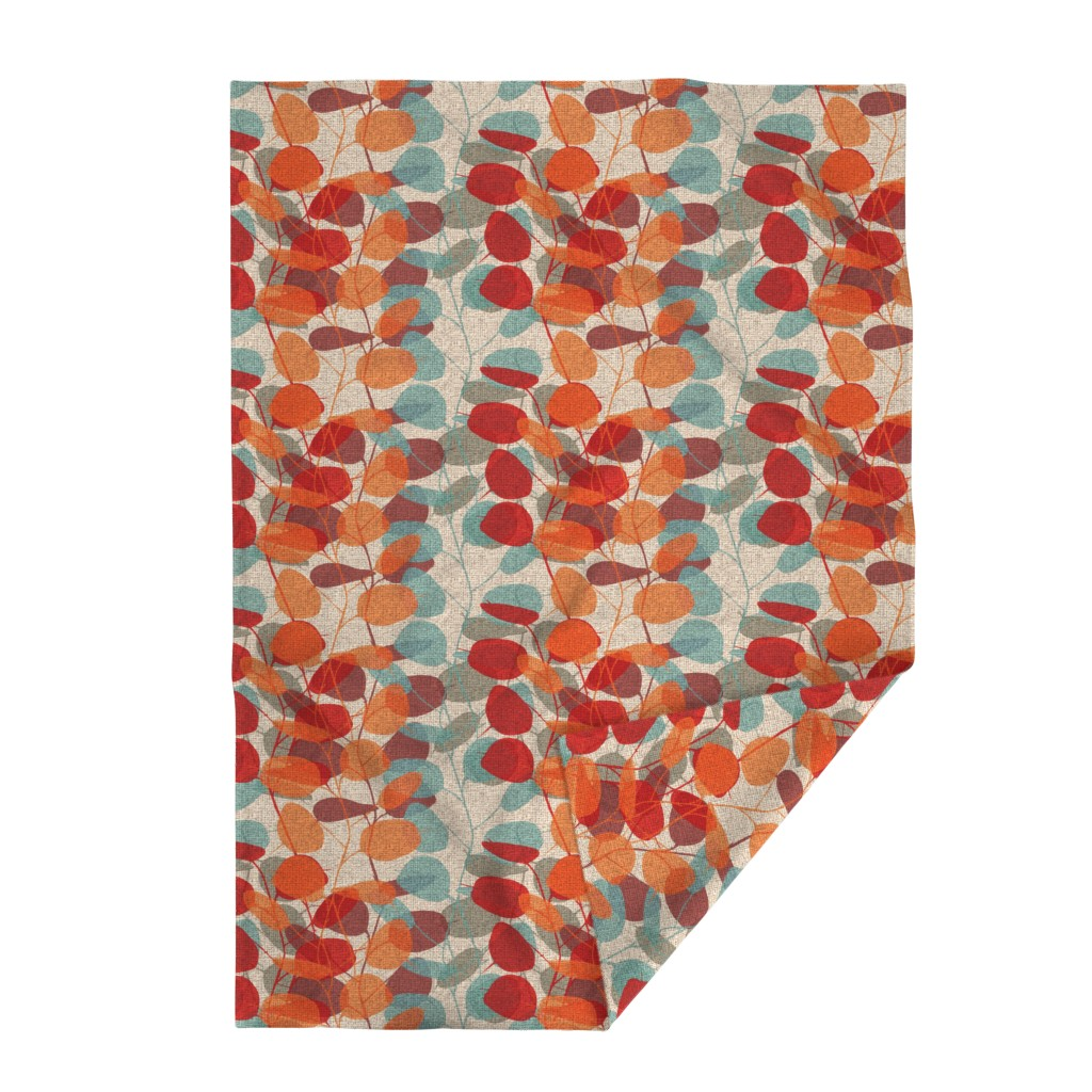 Lakenvelder Throw Blanket featuring Lunaria on a Fall Day by chicca_besso