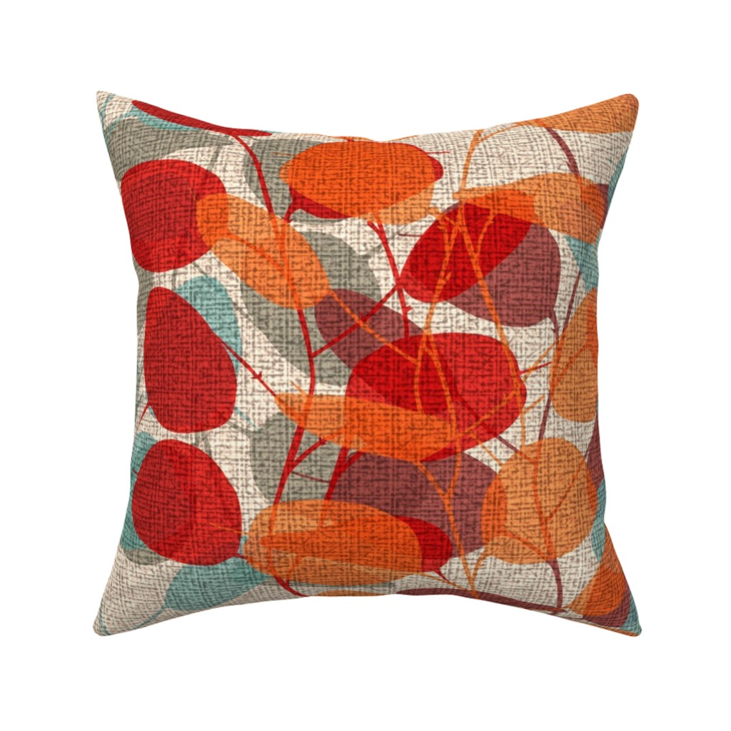Catalan Throw Pillow featuring Lunaria on a Fall Day by chicca_besso