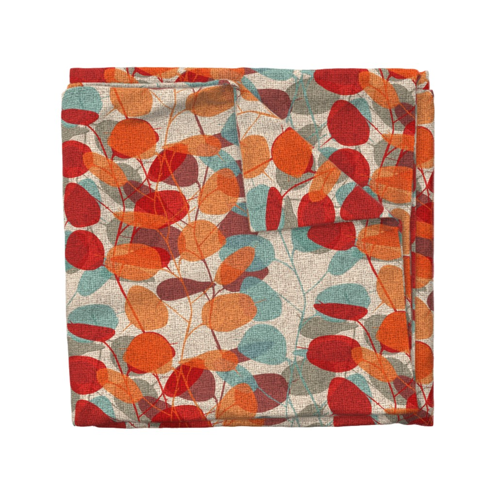 Wyandotte Duvet Cover featuring Lunaria on a Fall Day by chicca_besso