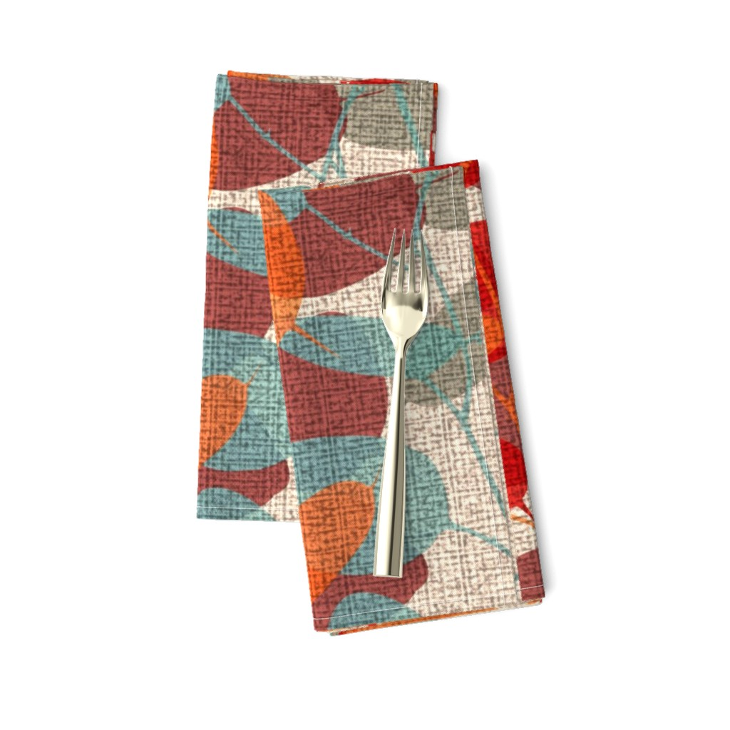 Amarela Dinner Napkins featuring Lunaria on a Fall Day by chicca_besso