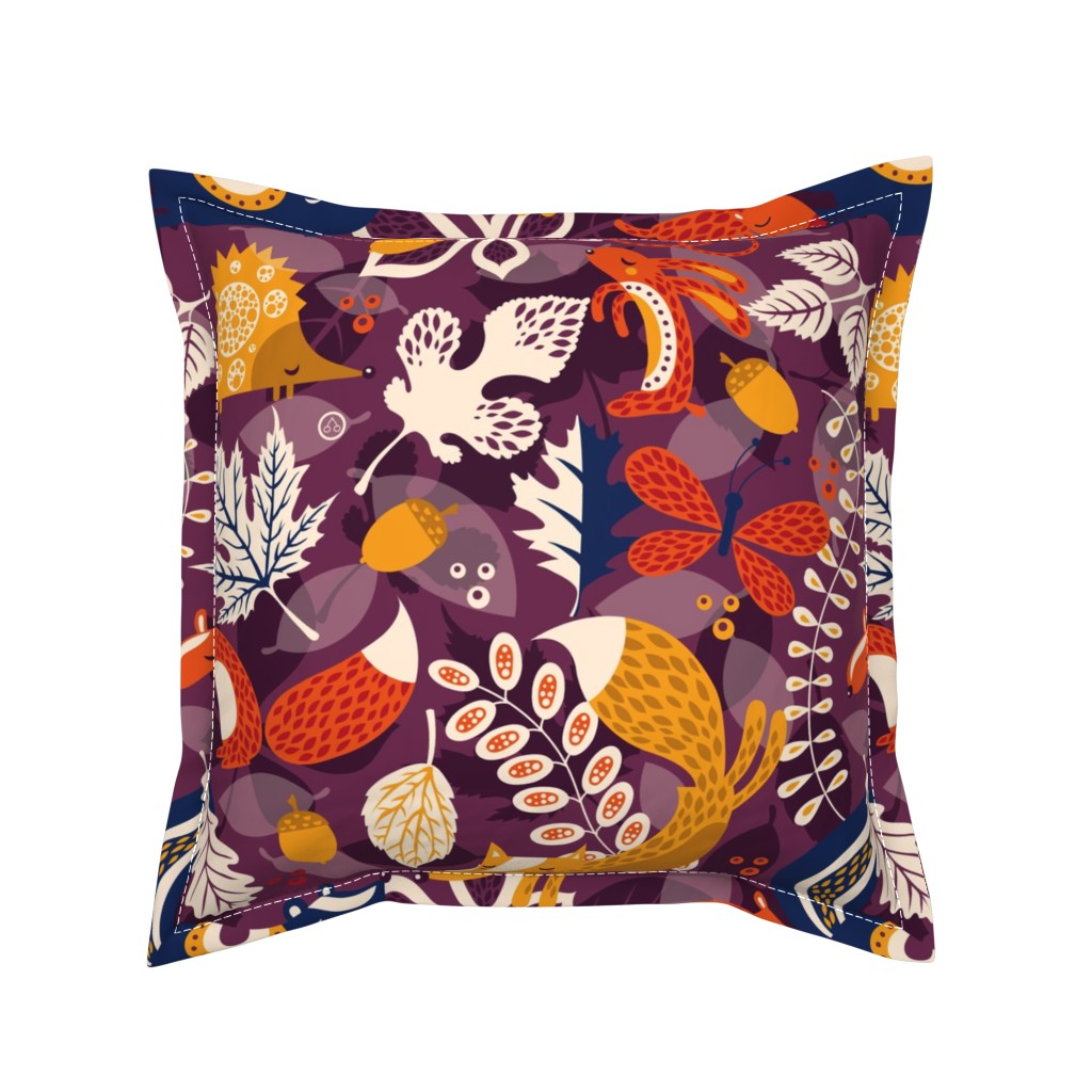 Serama Throw Pillow featuring Lots of Leaves by verycherry