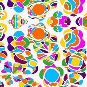 Floral Design 1 Multi colour White background