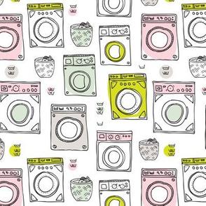 Laundromat vintage pattern